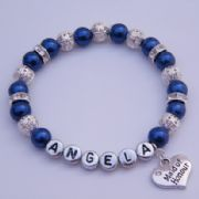 Maid Of Honour Personalised Bracelet - Sparkle & Bling Style